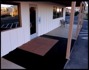 ADA ramp landing at door