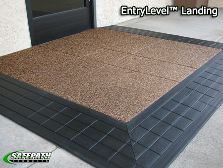 Residential Ramps - EntryLevel Landing Commercial Main Entry Ramp