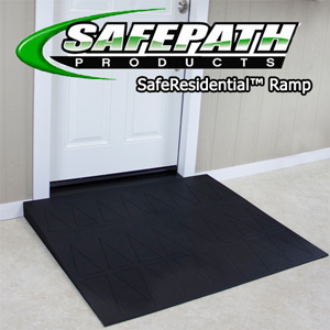 SafeResidential Rubber wheelchair ramps for ADA compliance Safepath products. EZEdge Threshold Ramps Higher quality than EZ Access.