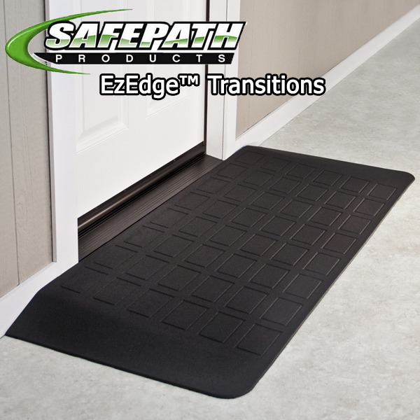 Ez Edge Rubber wheelchair ramps for ADA compliance Safepath products. EZEdge Threshold Ramps Better than EZ Access. Disabled Veteran