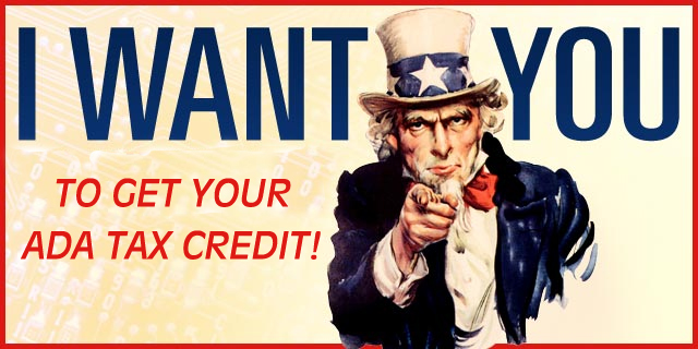 Uncle Sam pointing his finger towards you saying he wants you to get your tax credit